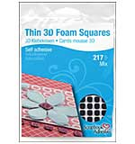 SO: Thin 3D Foam Squares, Black MIX (217pk)  from Scrapbook Adhesives - Black (63) .43x.47 and (154) .25x.25