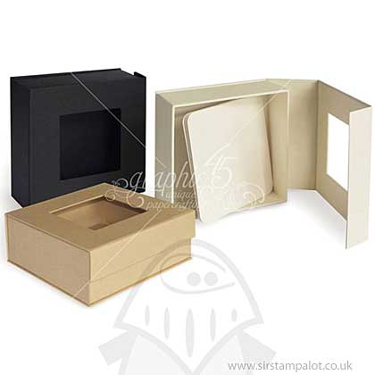 Graphic 45 - Kraft - Staples Mixed Media Box 5x5