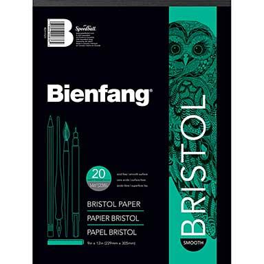 Bienfang Bristol Board Smooth Paper Pad (9x12, 20 Sheets)
