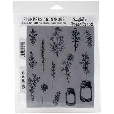 Tim Holtz Cling Stamps - Flower Jar