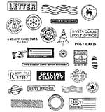 Tim Holtz Cling Stamps - Holiday Postmarks