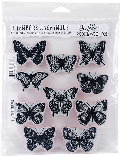 SO: Tim Holtz Cling Stamps - Flutter