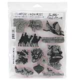 SO: Stampers Anonymous - Rubber Stamp Set by Tim Holtz - Mini Holidays