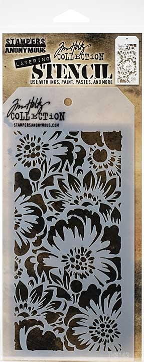 Tim Holtz Layered Stencil - Bouquet - Layered