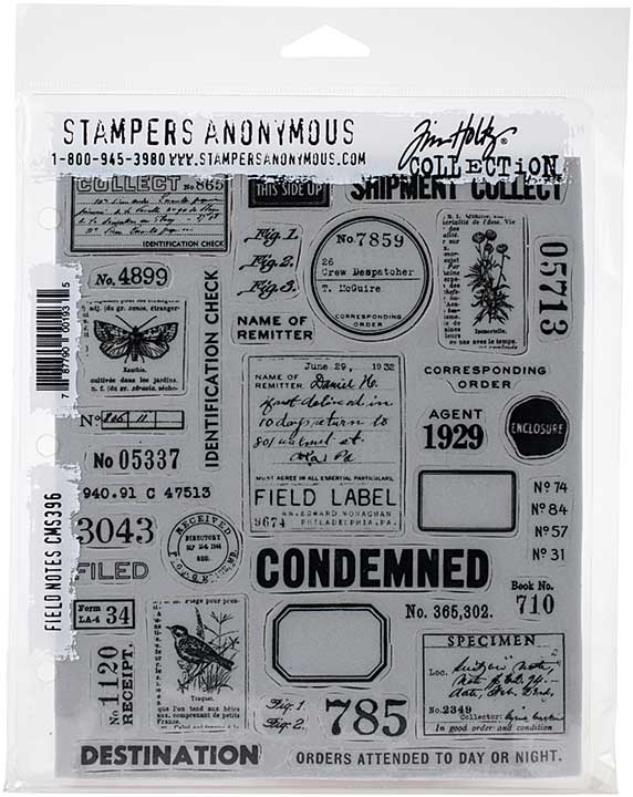 Tim Holtz Cling Stamps - Field Notes