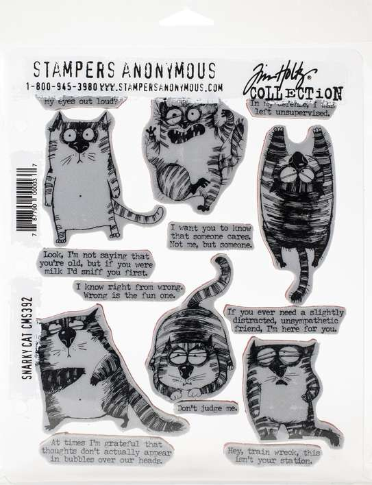 SO: Tim Holtz Cling Stamps - Snarky Cat