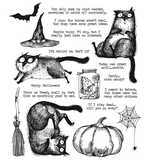 SO: Tim Holtz Cling Stamps - Snarky Cat Halloween