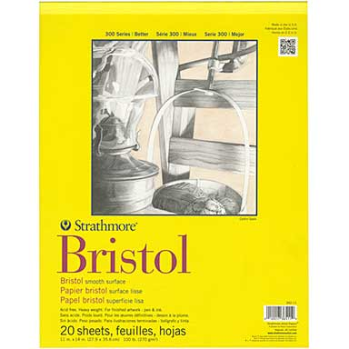SO: Strathmore Bristol Smooth Paper Pad 11x14 - 20 Sheets