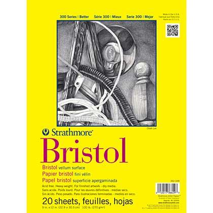 SO: Strathmore Bristol Vellum Paper Pad 9x12 - 20 Sheets