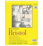 Strathmore Bristol Smooth Paper Pad (9x12, 20 Sheets)