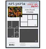 SO: Studio 490 by Wendy Vecchi Art Parts from Stampers Anonymous - Five Panel Frames