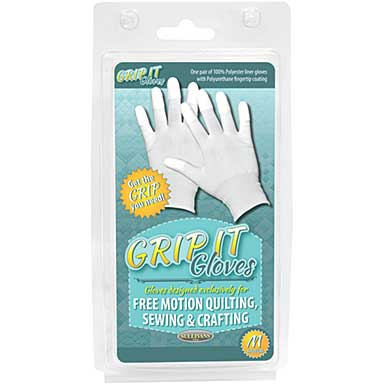 Grip Gloves For Free Motion Quilting - Medium