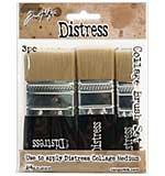 Tim Holtz Distress Collage Brush Assortment (0.75, 1.25, 1.75 inch)