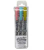 Tim Holtz Distress Pearlescent Crayons Holiday Set #2