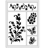 Viva Décor Flexible Stencil - Flowers and Butterflies