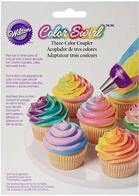 Colour Swirl I 3 Colour Icing Bag Coupler