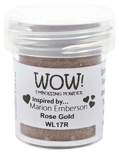SO: Wow! Colour Blends Embossing Powder - Rose Gold - inspired by Marion Emberson