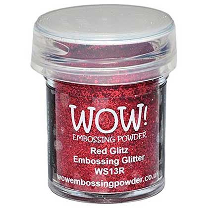 SO: Wow! Embossing Glitters - Red Glitz - Regular