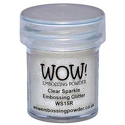 SO: Wow! Embossing Glitters - Clear Sparkle - Regular