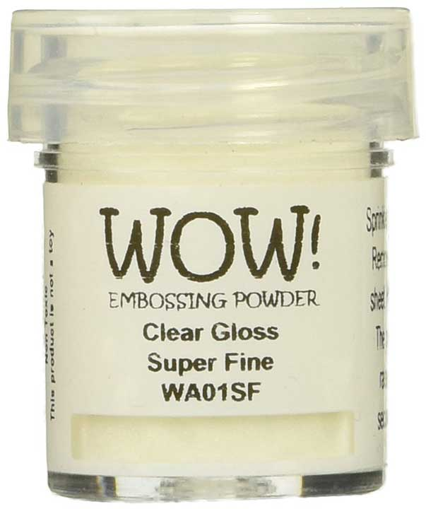 Wow Embossing Powder, Clear Gloss, Super Fine, Small 15ml