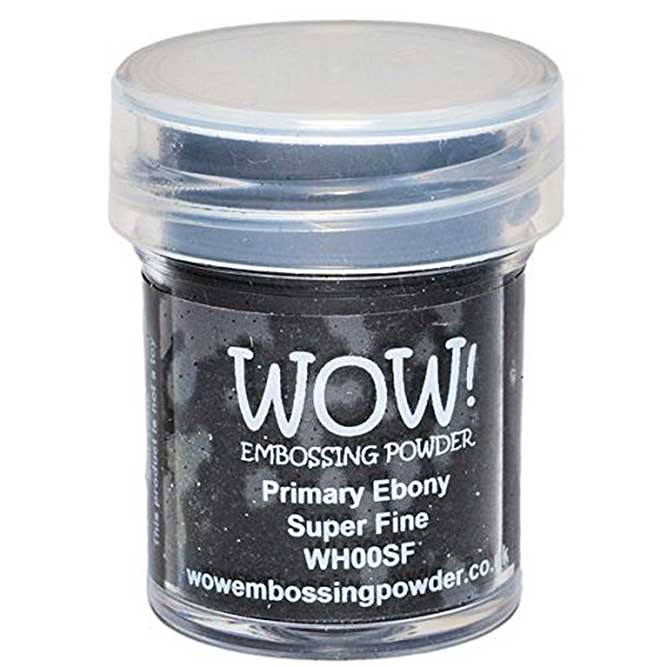 Wow Embossing Powder, Primary Ebony Black, Super Fine, Small 15ml