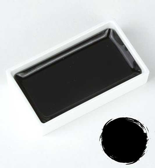 Kuretake Gansai Tambi - Black Large Pan (Japanese Watercolour)