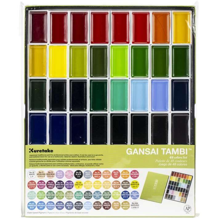 Kuratake Gansai Tambi Paints - 48 Colour Set