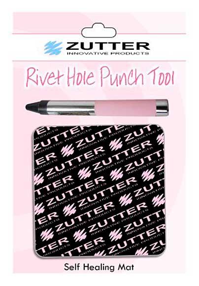 Zutter Rivet hole Punch Tool and Mat Set