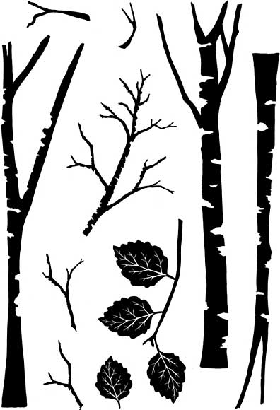 SO: Card-io - Tall Trees Clear Stamp Set