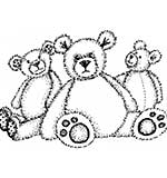 Crafty Impressions - The Three Bears Clear Stamp