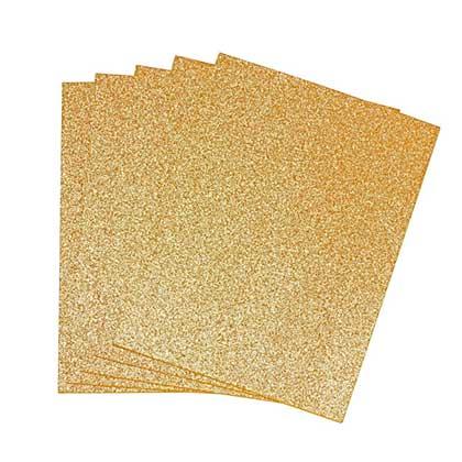 EVA Fun Craft Foam Sheets - Gold Glitter (2mm 22x30cm 5pk)