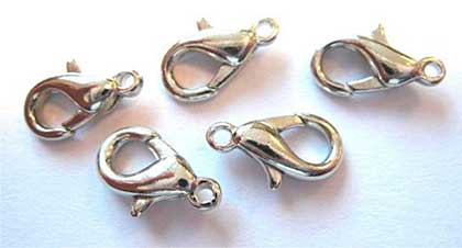 Jewellery Findings - Nickel Free Lobster Clasp - Platinum (12mm 5pcs)