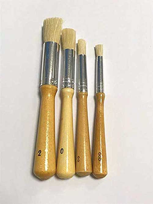 Hobby & Crafting Fun Stencil Brushes 4pcs Assorted Sizes