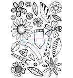 SO: Sweet Dixie Retro Flowers A6 Clear Stamp