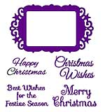 SO: Sweet Dixie Christmas Dies - Christmas Greetings Frame with Stamps