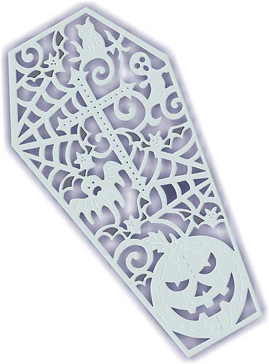 Sweet Dixie Halloween Die - Filigree Coffin