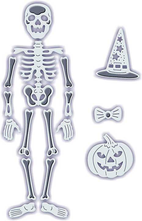 SO: Sweet Dixie Halloween - Poseable Skeleton (4 Dies)
