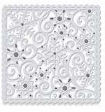Sweet Dixie Cutting Die - Sparkling Snowflakes Square