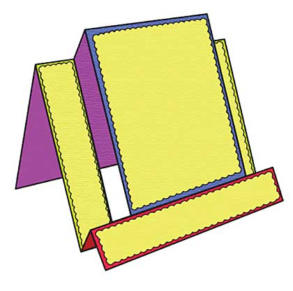 Presscut Cutting Die - Stepper Card #1 (6 dies) on magnetic storage sheet