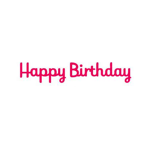 Presscut Cutting Die - Happy Birthday
