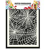 SO: Dutch Doobadoo Mask Art stencil - Spiderweb (A5)