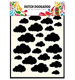 Dutch Doobadoo A5 Mask Stencil - Clouds