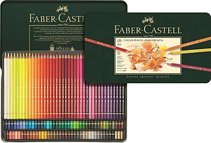 SO: Faber Castell - 120 Polychromos Colour Pencil Crayons in Metal Box