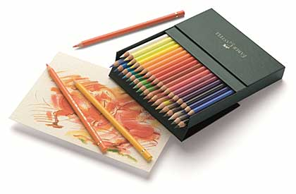 SO: Faber Castell - 36 Polychromos Colour Pencil Crayons in Studio Box