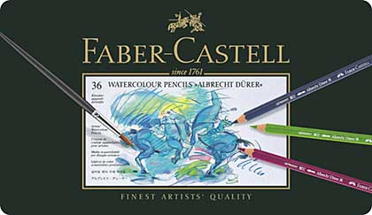 Faber Castell - 36 Watercolor Pencil Albrecht Durer (Tin of 36)