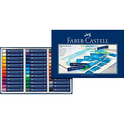 SO: Faber-Castell Box of 36 Oil Pastel Crayons