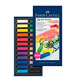 Faber-Castell 24 Soft Pastels - Mini Size