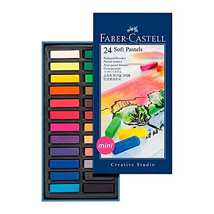 SO: Faber-Castell 24 Soft Pastels - Mini Size