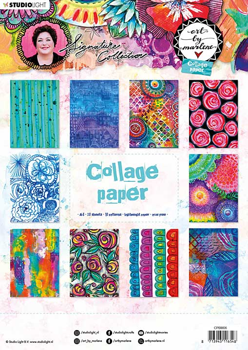 Art By Marlene - Collage Paper #06, (A4, 20pk, 10 Designs, 2 each)
