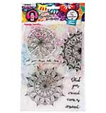 Art By Marlene - Mandala Tapestry, Clear Stamps #48